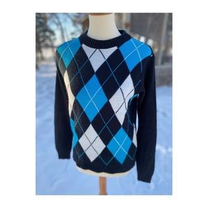 French Toast Argyle Sweater Crew Private School